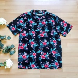40b5b5ba Flamingo Print Dirty Laundry Button-up. $22 $40. Mens dirty laundry floral  hawaiin top B1